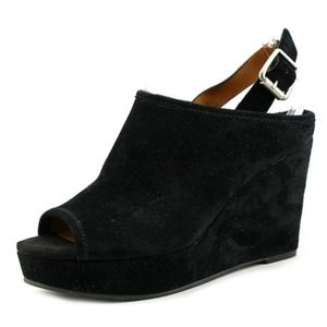 Lucky Brand Jemadine Suede Wedge Sandals